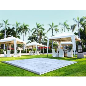 21' x 21' Commercial Portable White Dance Floor