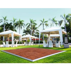 12' x 15' Commercial Portable Wood Finish Dance Floor