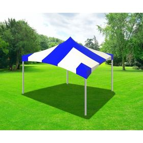 20 x 20 High Peak Frame Party Tent - Blue Striped