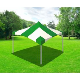 20 x 20 High Peak Frame Party Tent - Green Striped
