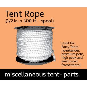 """600' Spool of 1/2"""" Tent Rope"""
