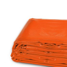 10' x 12' Heavy Duty Waterproof PVC Vinyl Tarp - Orange