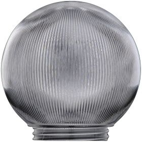 6-Inch Replacement Globe Light Cover, Prismatic Clear