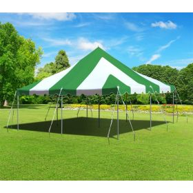 20 x 20 Premium Canopy Pole Party Tent - Green and White