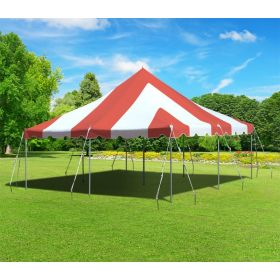20 x 20 Premium Canopy Pole Party Tent - Red and White