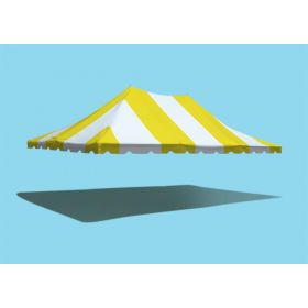 20' x 30' Premium Pole Party Tent Top - Yellow and White
