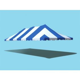 20' x 40' Premium Pole Party Tent Top - Blue and White