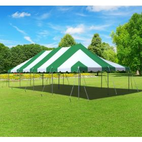 20' x 40' Premium Canopy Pole Party Tent - Green and White