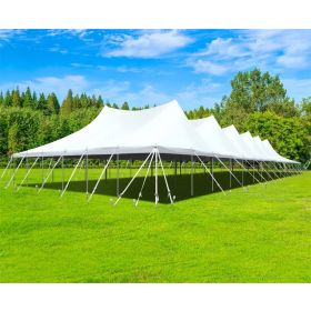 60' x 150' Premium Sectional Canopy Pole Party Tent - White