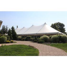 USED 40' x 100' Premium Sectional Canopy Pole Party Tent - White