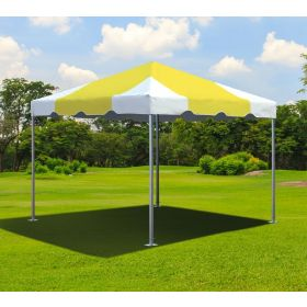10' x 10' West Coast Frame Party Tent - Yellow & White