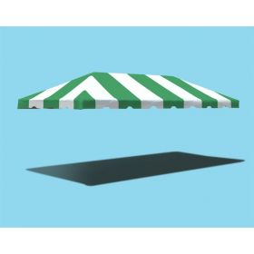10' x 20' West Coast Frame Party Tent Top - Green and White