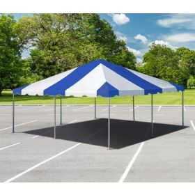20' x 20' West Coast Frame Party Tent - Blue and White