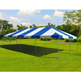 20' x 40' West Coast Frame Party Tent - Blue and White