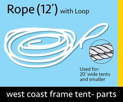 "3/8"" x 12' Rope with Loop"