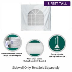 8' x 15' High Peak Frame Party & Canopy Tent Premium Blockout Cathedral Sidewall