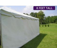 Moose Supply 20' x 20' Heavy-Duty Economy Sidewall Kit for 8' Tent Sides