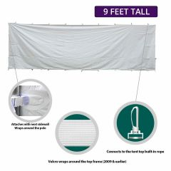 9' x 20' High Peak Frame Party & Canopy Tent Premium Blockout Solid Sidewall