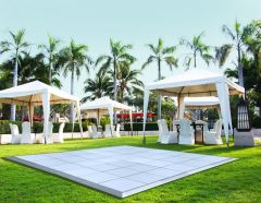 9' x 9' Commercial Portable White Dance Floor