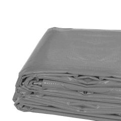 6' x 8' Heavy Duty Waterproof PVC Vinyl Tarp - Gray