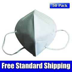 KN95 GB 2626-2006 Disposable Filtering Respirator Mask, 50 Pack High Efficiency