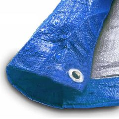 20' x 50' Blue & Silver Multi-Purpose Water Resistant Poly Tarp Cover