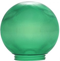 6-Inch Replacement Globe Light Cover, Prismatic Green