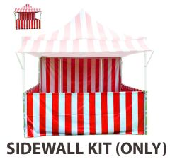 10' x 10' 50mm Speedy Pop-up Carnival Tent Sidewall Kit, Red and White Strip