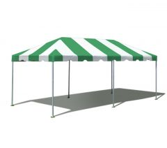 10' x 20' West Coast Frame Party Tent - Green and White