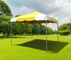 10' x 10' PVC Weekender West Coast Frame Party Tent - Yellow