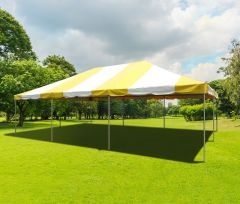 20' x 30' PVC Weekender West Coast Frame Party Tent - Yellow