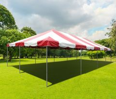 20' x 40' PVC Weekender West Coast Frame Party Tent - Red