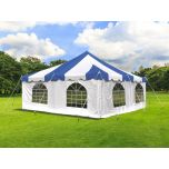 20' x 20' Weekender Standard Pole Tent with Sidewalls - Blue