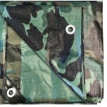 6' x 8' Multi-Purpose Water Resistant Camo Poly Tarp Cover