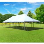 20' x 40' Premium Canopy Pole Party Tent - White