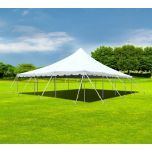 30' x 40' Premium Sectional Canopy Pole Party Tent - White