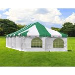 20' x 40' Weekender Standard Pole Tent with Sidewalls - Green