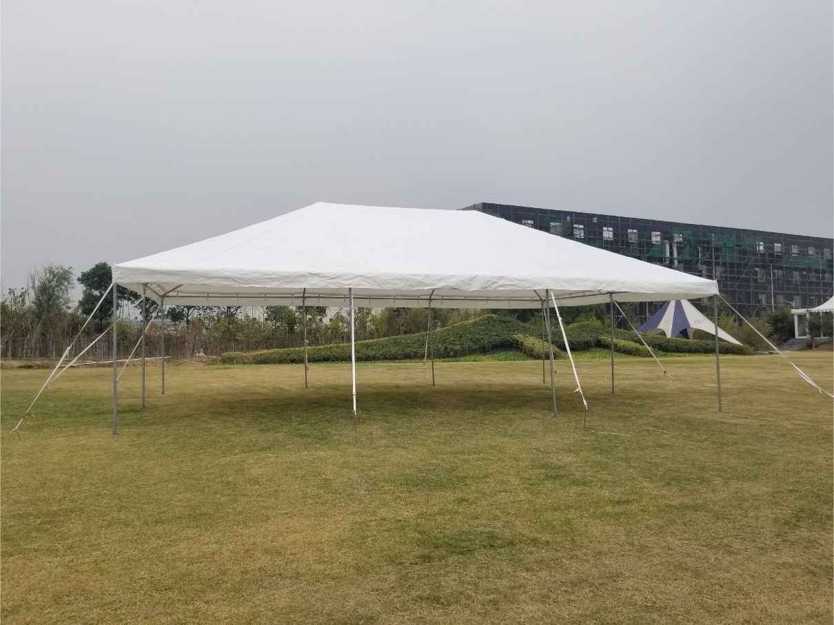 20' x 30' PE Weekender West Coast Frame Party Tent - White