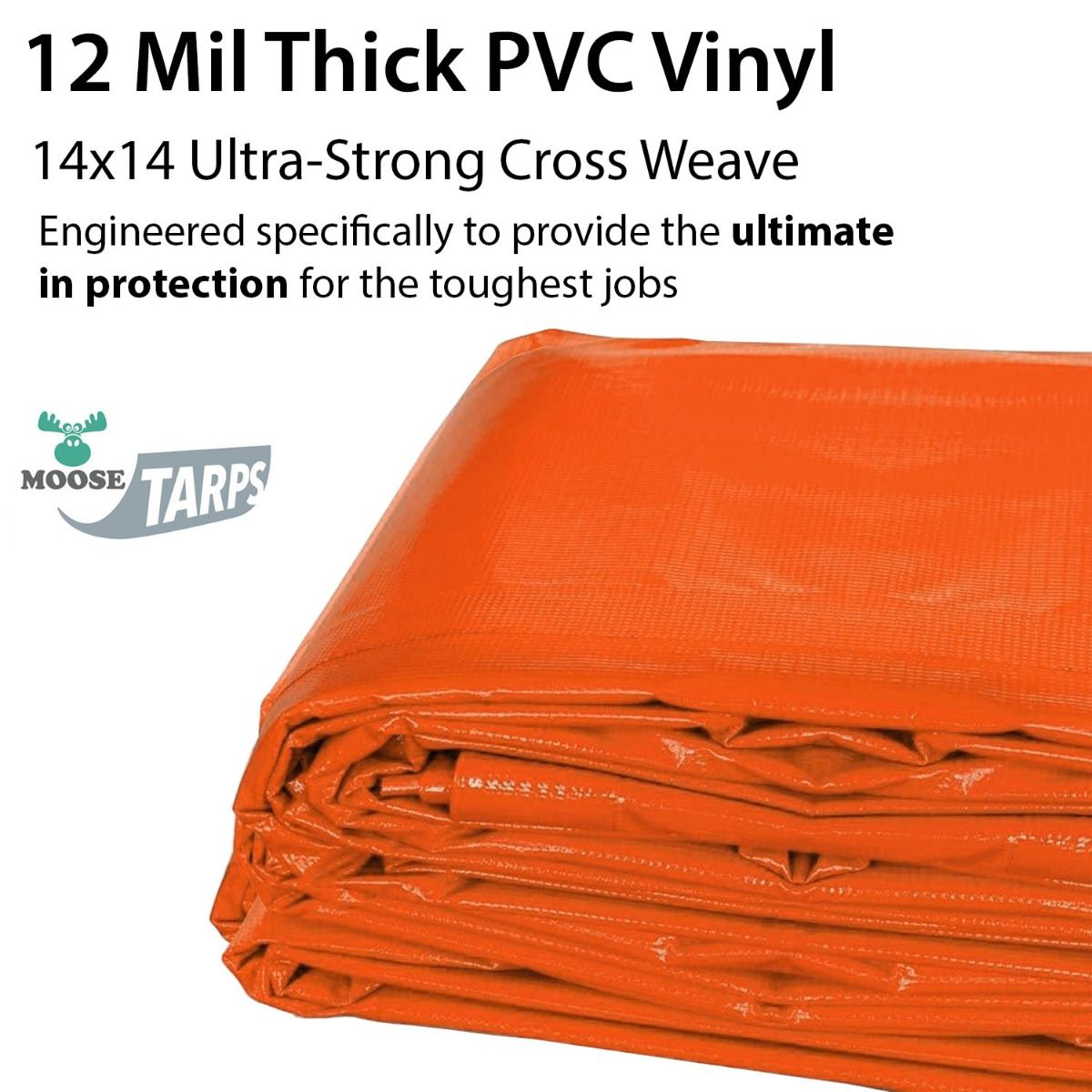 20 X 40 Orange Heavy Duty Waterproof Pvc Vinyl Tarp Inflatables And Tents